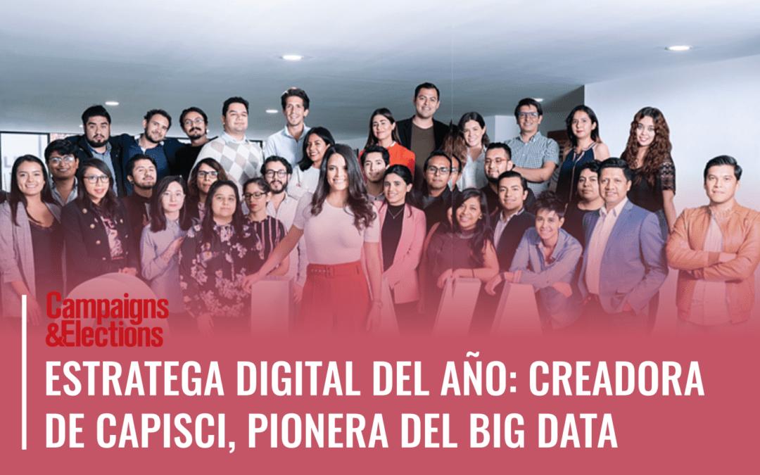 Estratega digital del año: pionera del big data